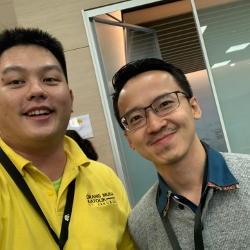 With Mr. Haryanto Quang, Technical Facilitator of Apple Developer Academy @ BINUS